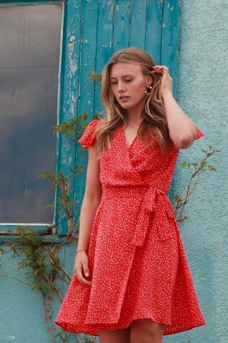 robe portefeuille chic et bohème Juliette