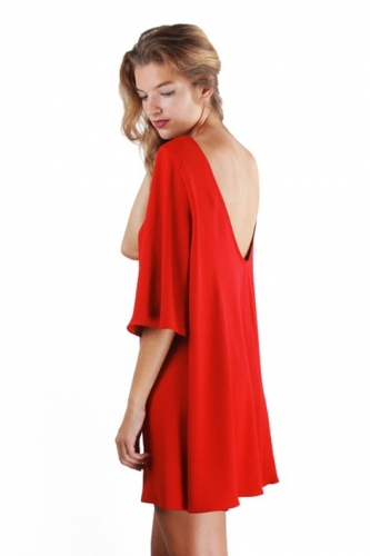 robe dos nu oversize large et fluide Mila
