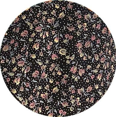 Imprimé fleuri fond noir
